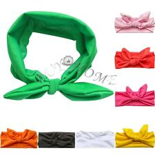 Baby Toddler Girls Stretch Rabbit Bow Turban Knot Headband Hairband Headwear