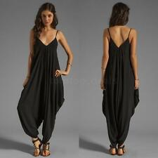 Sexy Women V Neck Jumpsuit Catsuit Playsuit Backless Rompers Pant Trouser Romper