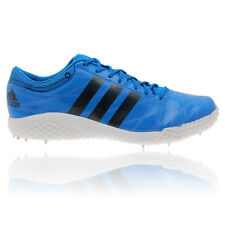 Adidas Adizero High Jump Mens Blue Sports Shoes Spikes Trainers