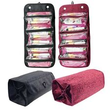 Hanging Rolling Travel Toiletry Cosmetic Bag Makeup Storage Case Wash Pouch US