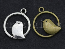 15pcs Antique Silver/Bronze Lovely dove Jewelry Finding Charms Pendant 24x20mm