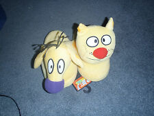 CAT AND DOG PLUSH HOUSE SLIPPERS NEW ADULT SIZES WITH TAGS