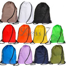 Practical Backpack Bag School Drawstring Duffle Sport Swim PE Gym Dance Shoes