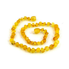 Raw or polished Baltic genuine amber teething necklace safety knotted baby