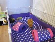 "set of 2** Fleece bedding with 6"" sides cage fleece liner hedgehog guinea pig"