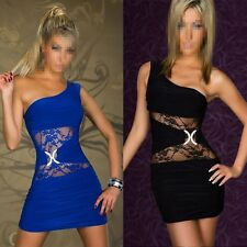 Sexy Lingerie NightClub Womans One Shoulder Lace Bodycon Cocktail Party Dress