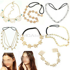 Women Lady Fashion Metal Rhinestone Headband Head Chain Hair Band Jewelry