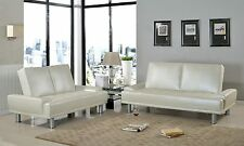 Florence Sofa and Loveseat Set Contemporary Style Couch Living Room PU Leather