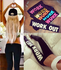 New Gun Work Out Fitness Leggings Sports Punk Style Gothic Apparel Pencil Pants