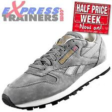 Reebok Classic Mens Leather Enhanced Nubuck Retro Trainers Grey UK 6 *AUTHENTIC*