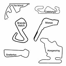 Formula 1 and Motor Race Track Decal Sticker - Various Colours - 43 Tracks