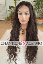 Long Natural Wave Human Hair Glueless Full Lace Front Wigs Best Indian Remy Wigs