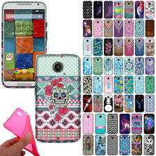 For Motorola Moto X 2014 2nd Gen Flexible TPU Silicone Rubber Back Case Cover