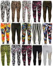 GIRLS COMIC BOOK PRINTED LEGGINGS 1D GRAFFITI LEOPARD STRETCHY JEGGING 7-13 YEAR