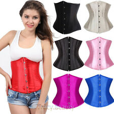 Black White Red Steel Busk Boned Lace Up Corset Waist Trainer Bustier S-6X Large