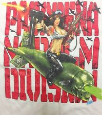 Pasadena Napalm Division PND Girl on Bomb White T-Shirt One-Sided P.N.D. Texas