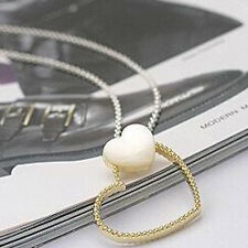 Simple Girls Valentine's Gift Double Hearts Shell Pendant Chain Necklace Jewelry