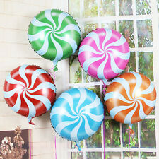 """Candy Balloons Lollipops Swirl Peppermint Wedding Foil Party Decoration 18"""""""