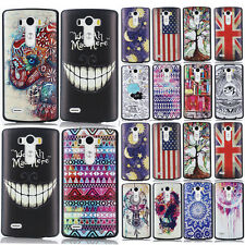 New Hot  Fashion Pattern Flip Stand PC Hard Cover Case Skin For LG G3/G2/G2 MINI