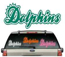 *BUY 2,GET 1 FREE*****DOLPHINS CAR DECAL VARIOUS SIZE & COLOR WINDOW STICKER