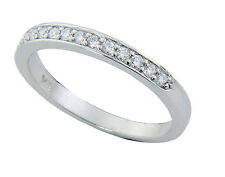 Traditional Bridal 14K White Gold Wedding Band with Diamonds
