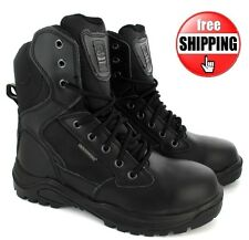 STEEL TOE CAP SAFETY COMBAT POLICE ARMY MILITARY COMBAT MENS BOOTS UK SIZE 7-11