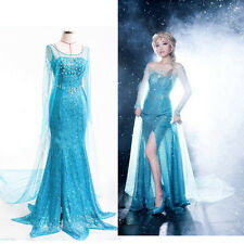 Bling Ice Queen Women Dress Cosplay Cocktail Evening Fancy Gown Dresses