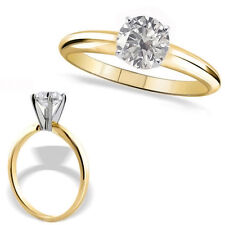 0.75 Carat G-H SI3-I1 Round Diamond 14K Yellow Gold Solitaire Engagement Ring