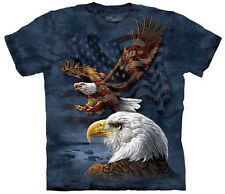 Eagle Flag Collage Authentic The Mountain Adult T-Shirt