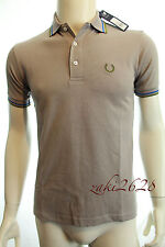 BNWT MEN FRED PERRY LAUREL WREATH COLLECTION M120 TIPPED GREY POLO SHIRT RRP £70