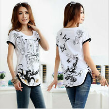 new womens plus size loose fashion cotton t-shirts slim tops sell like hot cakes