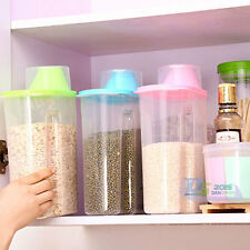 Large Plastic Dry Food Cereal Pasta Beans Dispenser Store Container Storage Box