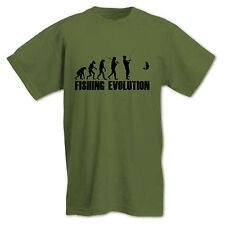 Fishing Evolution Fathers Day Birthday Present Gift Funny Hobby Mens T Shirt