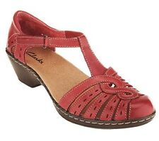 Clarks Leather Cut-out Sandals - Wendy Tiger PICK SIZE & COLOR
