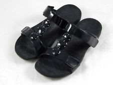 Orthaheel Albany Triple Strap Black Sandals PREOWNED