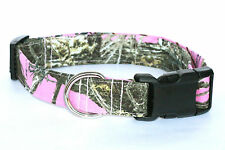 """True Timber MC2 Pink Camouflage Hunting Camo Dog Collar *** XL 1 1/2"""" WIDE ***"""