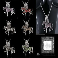 2015 New CHIC Angel Pegasus Tibetan Silver Sweater Pendant Long Necklace Gifts