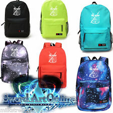 Sword Art Online School Bags ,teens Boys SAO  Backpack (Multi-Type) Noctilucence