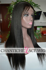 Yaki Straight Lace Front Wig Brazilian Remy Human Hair Full Lace Wig 150 Density