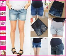 New Over Bump Maternity Shorts Jeans fashionable Cotton Summer Pants Size 8-16