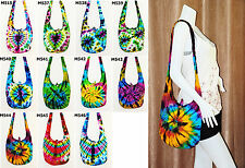 SALE Thai Hippie Tie Dye Hobo Sling Shoulder Crossbody Bag Purse Cotton Boho