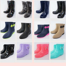 Women's Rain Boots Cute Rubber Short Ankle Waterproof  Mid Calf & Multi Colors