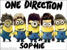 MINIONS ONE DIRECTION  With Name Placemat. VERY SPECIAL PRICE FOR 4. A4 size