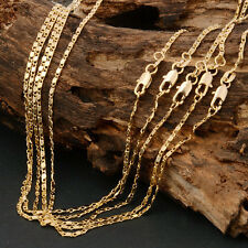 Hot Sale Chain Jewelry 1pc 18K Yellow Gold Plated Rolo Chain Necklace 18-22inch