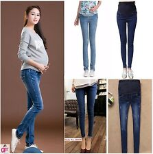 New Over Bump Maternity Pregnancy Skinny Jeans Trousers Size 6 8 10 12 14 16 18