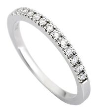 0.20ct Traditional Bridal 14K White Gold Wedding Band with Diamonds