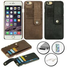 LEATHER COVER BACK CARD FLAP WALLET CASE APPLE IPHONE 6 PLUS + ACCESSORY SET