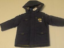NWT Child of Mine Toddler Boy Printed Hood Puffer Coat Winter Jacket 24 MO 3T 4T