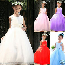 *Girls Party/Bridesmaid/Princess/Prom/Wedding/Christening Flower Dress Age 2-12*