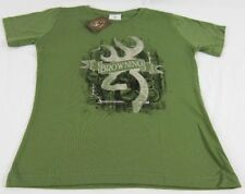 Womens NWT Browning Buckmark Framed Leaves Classic Fit Olive Green T-Shirt S-2XL